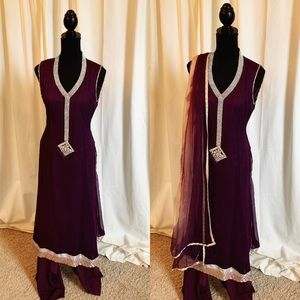 Plum Purple Pakistani Outfit